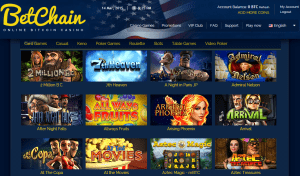 Betchain casino games