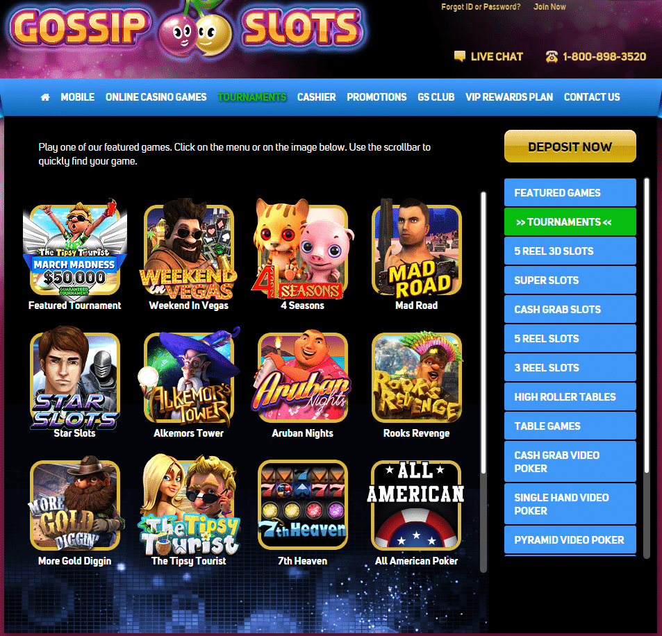 Gossip Slots Casino Review and Ratings