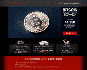 bovada bitcoin page